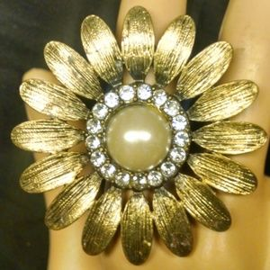 Rare Vintage Antique Style Sunflower Sexy Ring